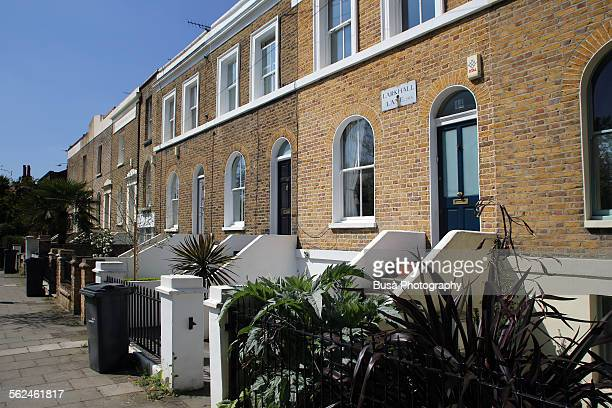 Rowhouses in the Stockwell neighborhood of London