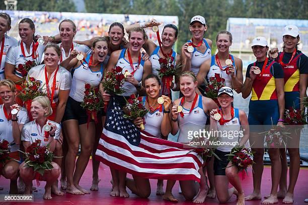2008 Summer Olympics USA Mary Whipple Caryn Davies Caroline Lind Susan Francia Anne Cummins Elle Logan Anna Goodale Lindsay Shoop Erin Cafaro...