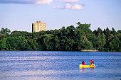 Rowing around Lake Calhoun - Minneapolis-St Paul, Minnesota