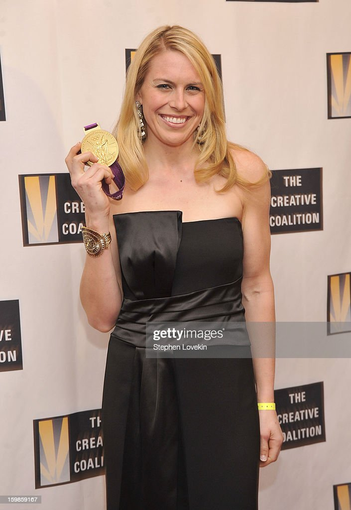 U.S. rowing gold-medalist Esther Lofgren attends The Creative Coalition's 2013 Inaugural Ball at the Harman Center for the Arts on January 21, 2013 in Washington, United States.