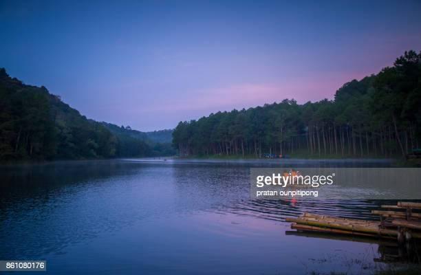 Rowing raft at Pang Oung