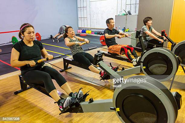 Rowing Workout for Cross Training Athletes in a Japan Gym