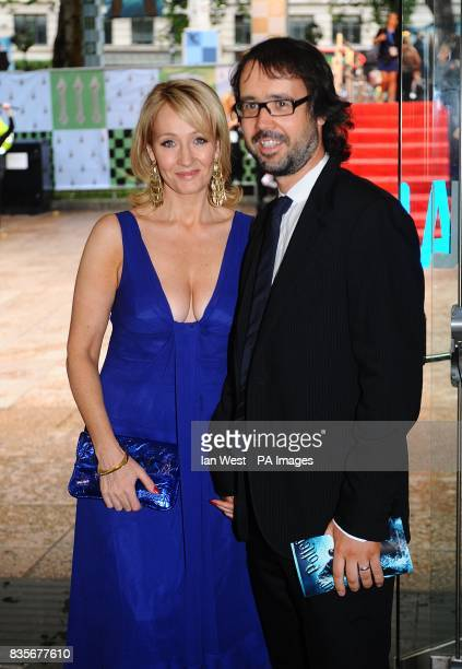 JK Rowling and husband Neil Murray arriving for the world premiere of Harry Potter and the HalfBlood Prince at the Odeon Leicester Square London