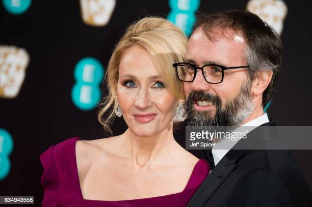 JK Rowling and Neil Murray attend the 70th EE British Academy Film Awards at Royal Albert Hall on February 12 2017 in London England