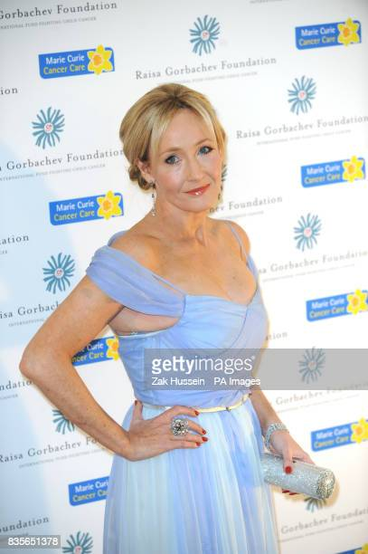 JK Rowling arrives for the Raisa Gorbachev Foundation Annual Fundraising Gala Dinner at Hampton Court Richmond upon Thames in south west London