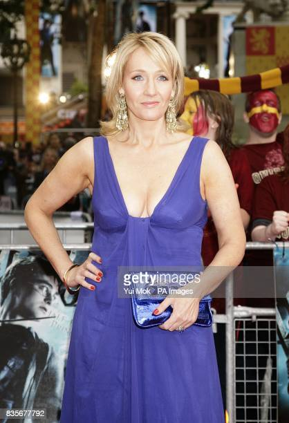 JK Rowling arriving for the world premiere of Harry Potter and the HalfBlood Prince at the Odeon Leicester Square London