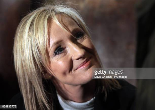 JK Rowling at the launch of her new book at a charity tea party at the National Library of Scotland at which Rowling reads extracts from The Tales of...