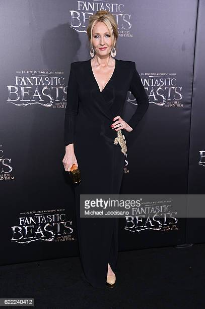 J K Rowling attends the 'Fantastic Beasts And Where To Find Them' World Premiere at Alice Tully Hall Lincoln Center on November 10 2016 in New York...
