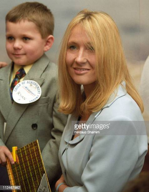 JK Rowling during 2002 Child Of Achivement Award at Park Lane Hilton London in London Great Britain