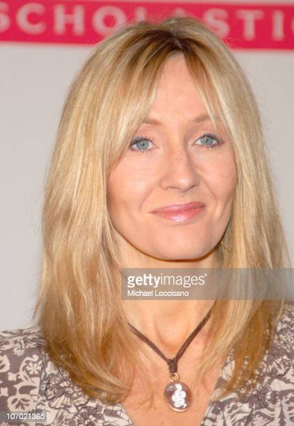 JK Rowling during 'Harry Carrie and Garp' Press Conference with JK Rowling Stephen King and John Irving at Radio City Music Hall in New York City New...