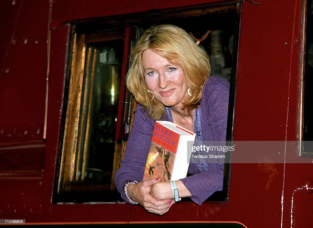 J.K. Rowling during J K Rowling Promotes 'Harry Potter and Goblet of Fire' at Kings Cross Station London in London, Great Britain.