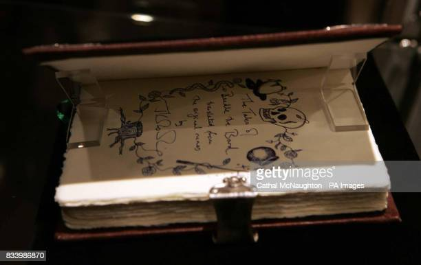 JK Rowlings book 'The Tales of Beedle the Bard' which is to be auctioned in Sotheby's on Thursday 13 December to raise funds for the Childrens Voice...