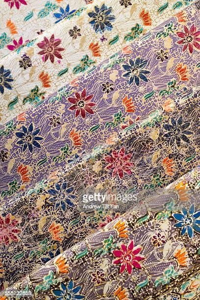 Rows of Batik fabric