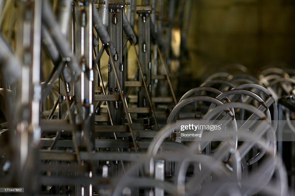 Rows of chassis sit at the Main Street Pedicabs Inc. manufacturing facility in Broomfield, Colorado, U.S., on Monday, June 24, 2013. The U.S. Census Bureau is scheduled to release durable goods figures on June 25. Photographer: Matthew Staver/Bloomberg via Getty Images