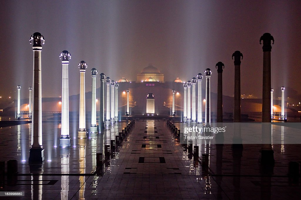 Rows of columns at the Ambedkar Memorial Park