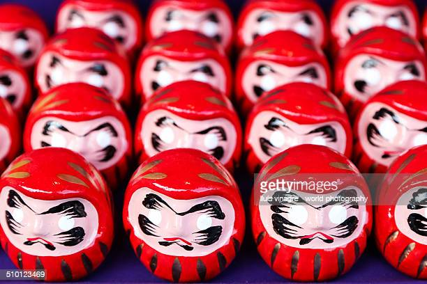 Rows of daruma dolls