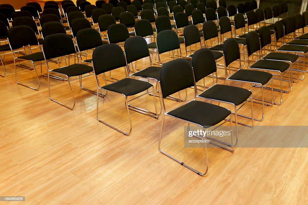Rows of empty chairs in a seminar hall  Stock Photo & Rows Of Empty Chairs In A Seminar Hall Stock Photo | Thinkstock