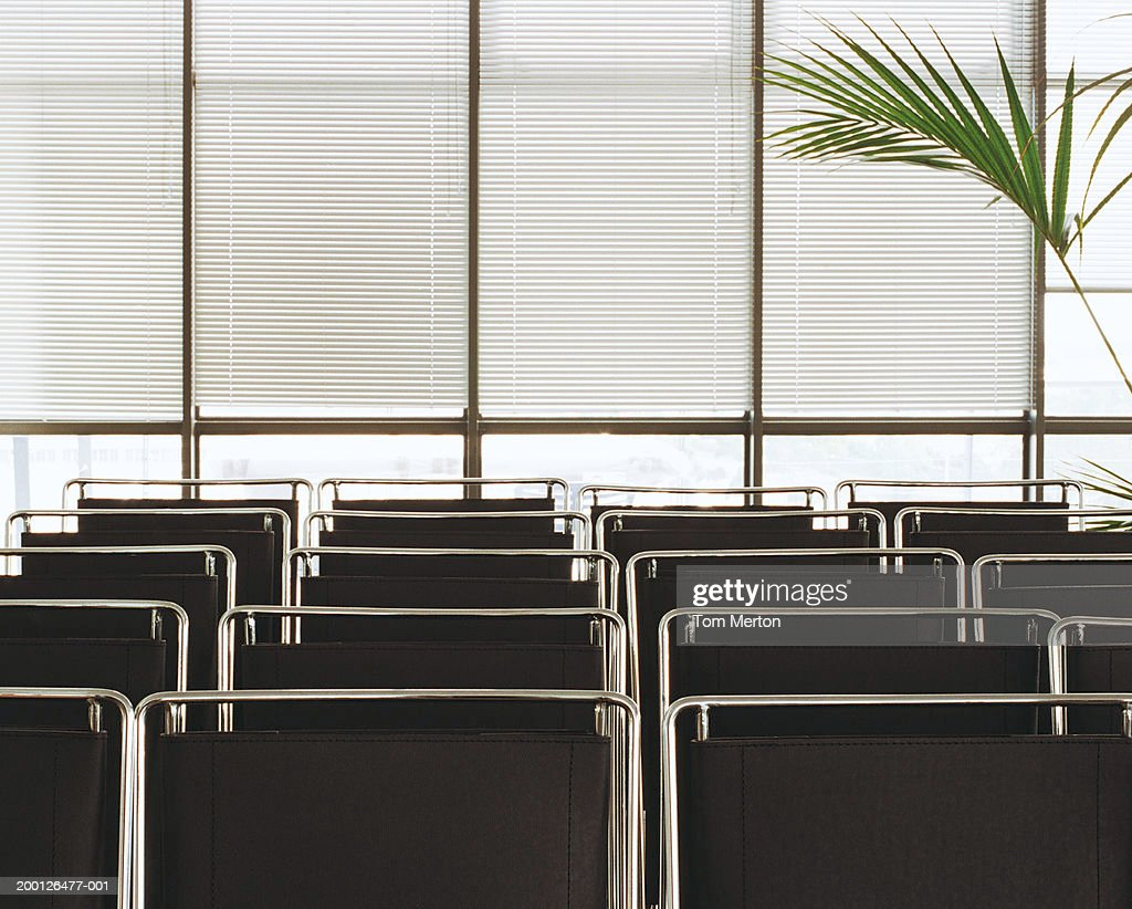 Rows of empty chairs in office : Stock Photo