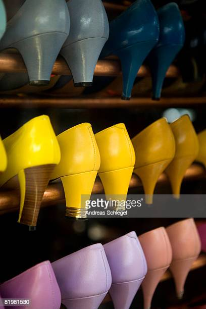 Rows of high heel shoes