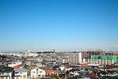 Rows of houses, Inagi, Japan.