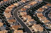 Rows of houses, Orange County, CA