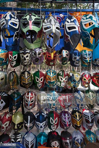 Rows of Lucha Libre masks for sale