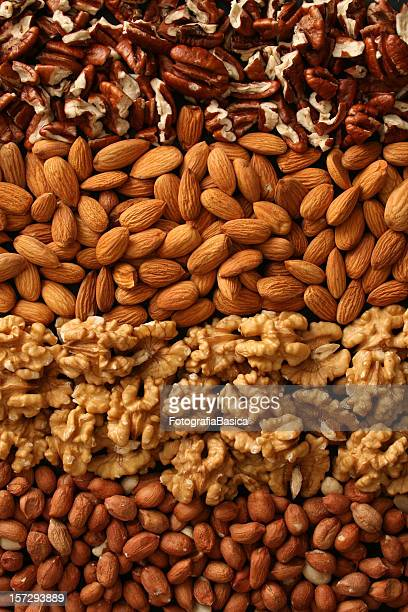 Rows of nuts
