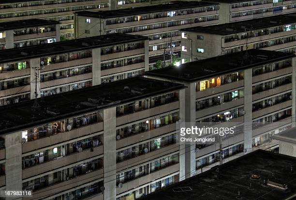 Rows of public housing in Tatsumi