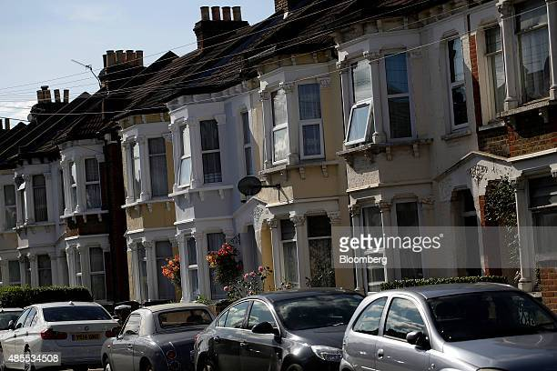 Rows of residential property sit in the Thornton Heath neighbourhood of London UK on Friday Aug 28 2015 The fastestrising neighborhood in London's...