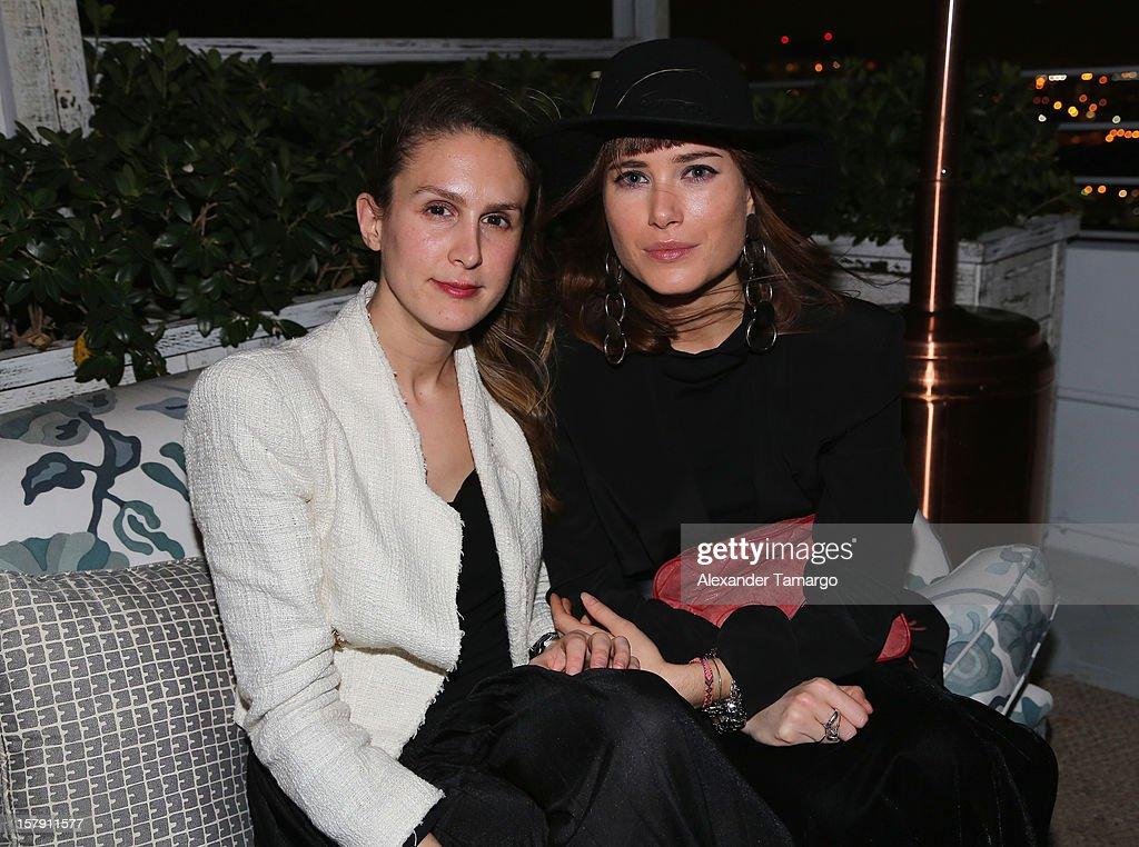 Roxana Pennie (L) and Julia Hobbs attend the Baku Magazine Party at Soho Beach House during Miami Art Basel on December 4, 2012 in Miami Beach, Florida. Baku Magazine is dedicated to promoting contemporary art and culture in Azerbaijan.