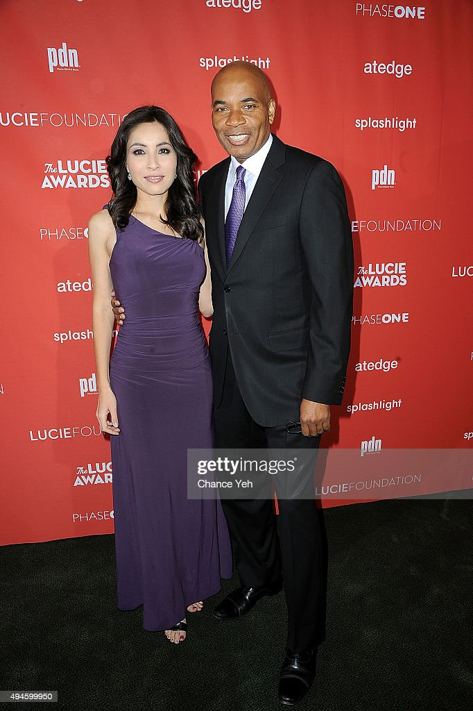 Roxana Saberi and Tony Harris attend 13th Annual Lucie Awards at Zankel Hall, Carnegie Hall on October 27, 2015 in New York City.