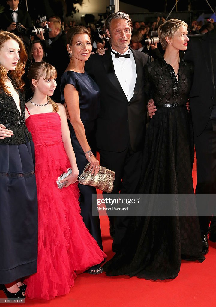 Roxane Duran; Melusine Mayance, Hanne Jacobsen,Mads Mikkelsen and Delphine Chuillot attend the 'Michael Kohlhaas' premiere during The 66th Annual Cannes Film Festival at the Palais des Festival on May 24, 2013 in Cannes, France.