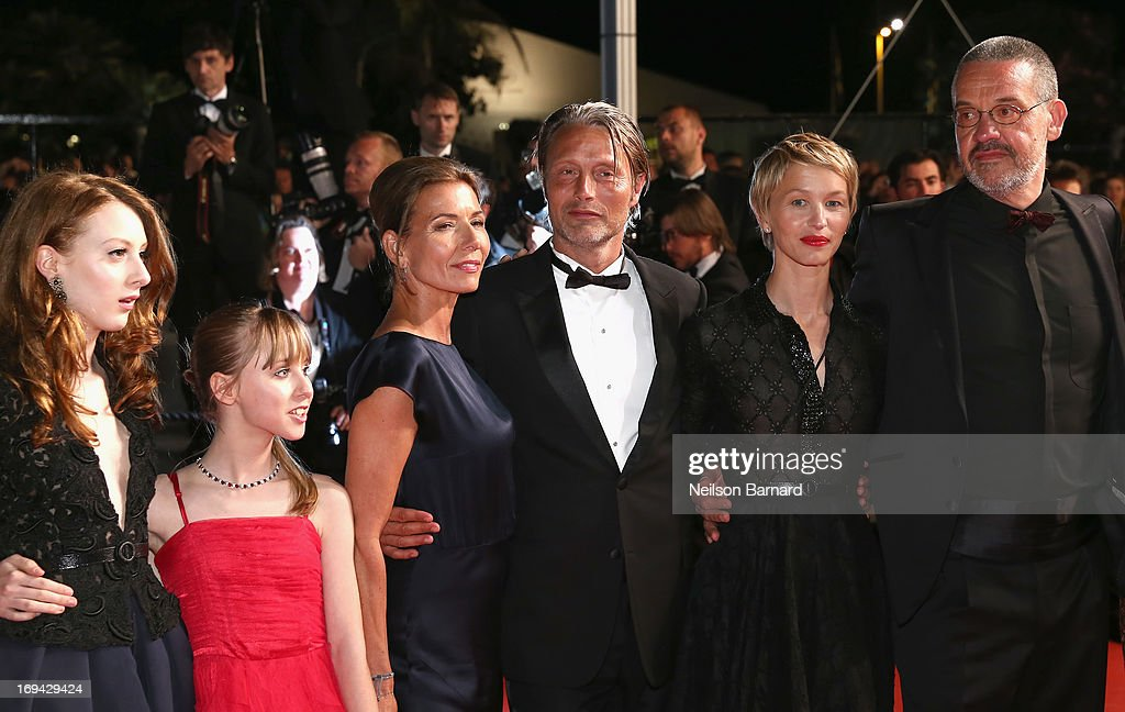 Roxane Duran; Melusine Mayance, Hanne Jacobsen,Mads Mikkelsen, Delphine Chuillot and Arnaud des Pallieres attend the 'Michael Kohlhaas' premiere during The 66th Annual Cannes Film Festival at the Palais des Festival on May 24, 2013 in Cannes, France.