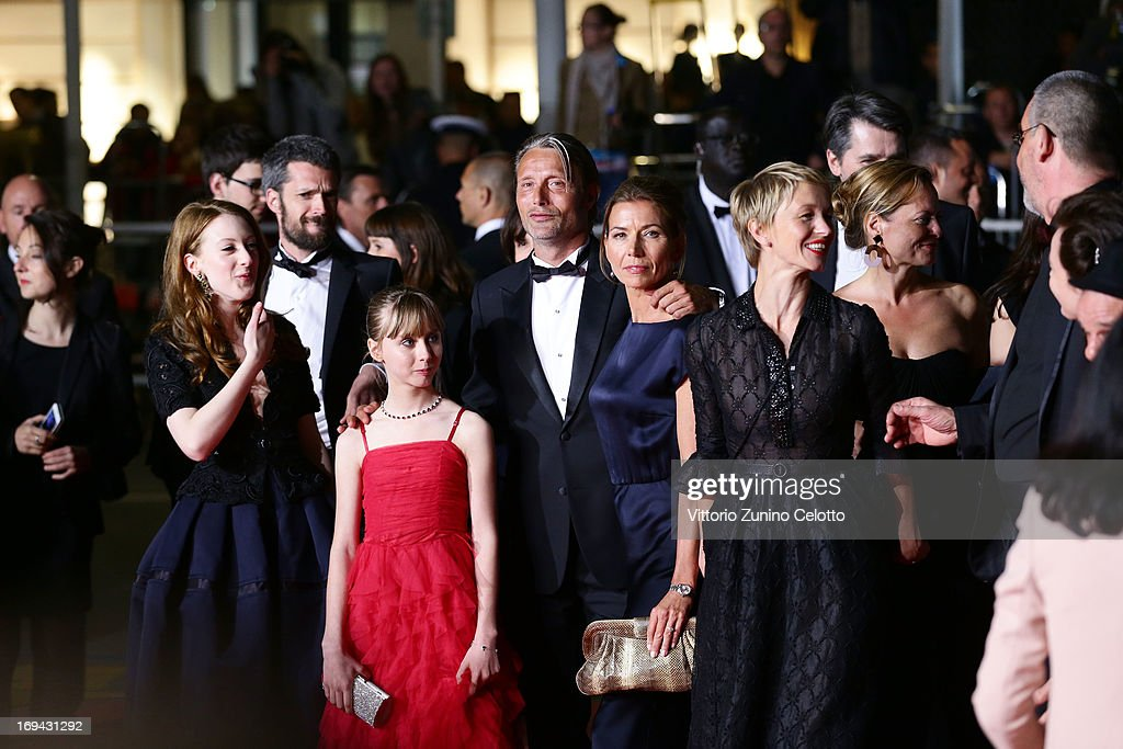 Roxane Duran, Melusine Mayance, Mads Mikkelsen, Hanne Jacobsen and Delphine Chuillot attend the 'Michael Kohlhaas' premiere during The 66th Annual Cannes Film Festival at the Palais des Festival on May 24, 2013 in Cannes, France.