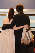 Roxane Mesquida and Thomas Dekker at the premiere of 'Kaboom' during the 63rd Cannes International Film Festival