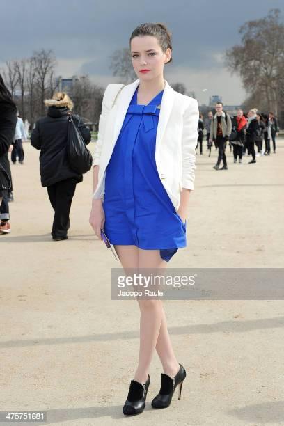 Roxane Mesquida arrives at Victor Rolf Fashion Show during Paris Fashion Week Womenswear Fall/Winter 20142015 on March 1 2014 in Paris France