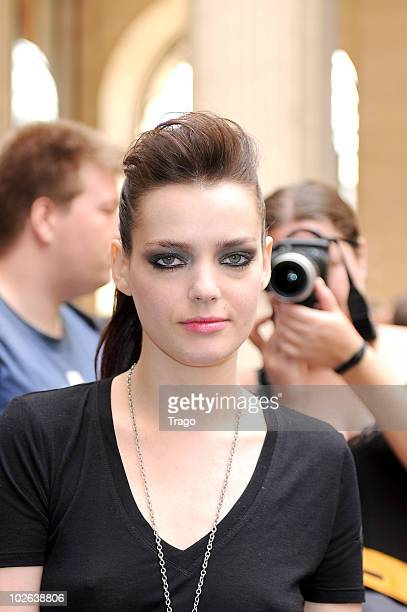 Roxane Mesquida attends Giorgio Armani show as part of the Paris Haute Couture Fashion Week Fall/Winter 2011 at Espace Vendome on July 6 2010 in...