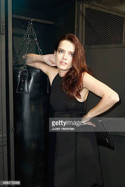 Roxane Mesquida attends the Alexander Wang x HM Collection Launch at the HM Boulevard SaintGermain store on November 5 2014 in Paris France