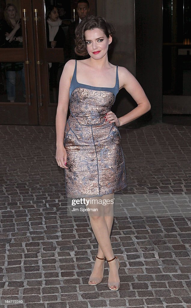 Roxane Mesquida attends The Cinema Society & Jaeger-LeCoultre screening of Open Road Films' 'The Host' at Tribeca Grand Hotel on March 27, 2013 in New York City.