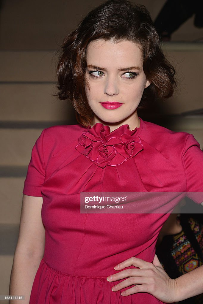 Roxane Mesquida attends the Valentino Fall/Winter 2013 Ready-to-Wear show as part of Paris Fashion Week on March 5, 2013 in Paris, France.