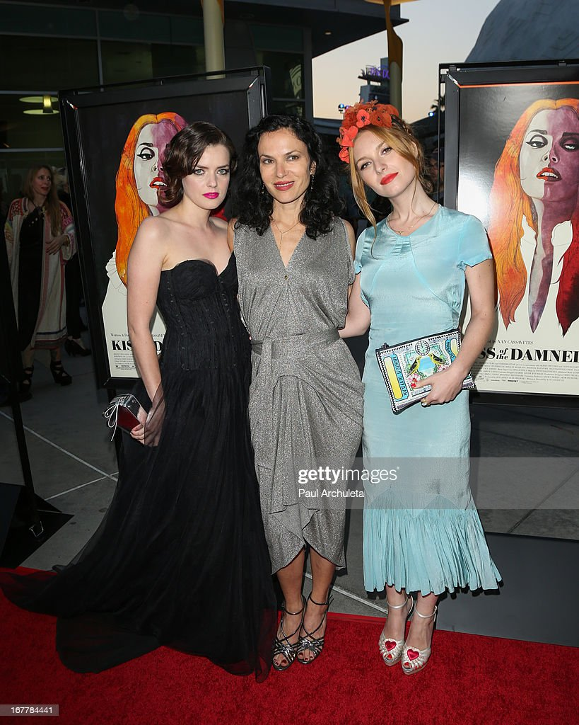 <a gi-track='captionPersonalityLinkClicked' href=/galleries/search?phrase=Roxane+Mesquida&family=editorial&specificpeople=217749 ng-click='$event.stopPropagation()'>Roxane Mesquida</a>, Xan Cassavetes and Josephine de La Baume attend the special screening of 'Kiss Of The Damned' at the ArcLight Hollywood on April 29, 2013 in Hollywood, California.