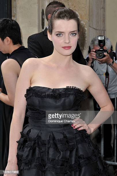 Roxanne Mesquida arrives at the Dior show as part of Paris Fashion Week Fall/Winter 2011 at Musee Rodin on July 5 2010 in Paris France
