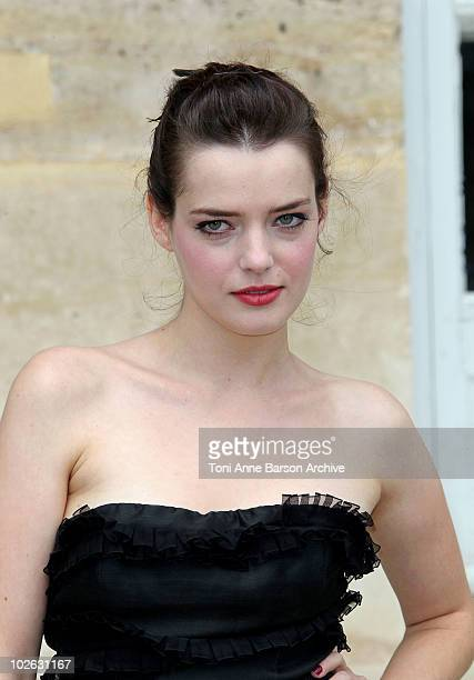 Roxanne Mesquida attends the Dior show as part of Paris Fashion Week Fall/Winter 2011 at Musee Rodin on July 5 2010 in Paris France