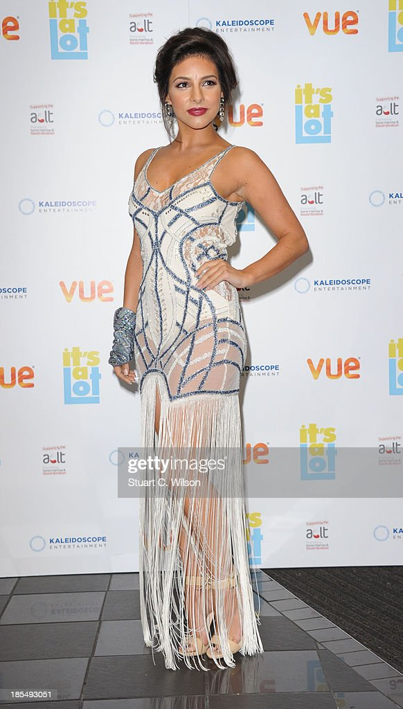 Roxanne Pallet attends the West End Premiere of 'It's A Lot' at Vue West End on October 21 2013 in London England