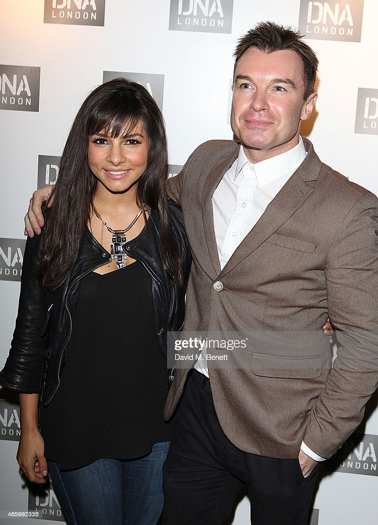 Roxanne Pallett and Greg Burns attend the launch of DNA London on January 30 2014 in London England