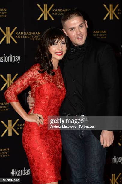 Roxanne Pallett and guest attending the Kardashian Kollection For Lipsy launch party at the Natural History Museum London