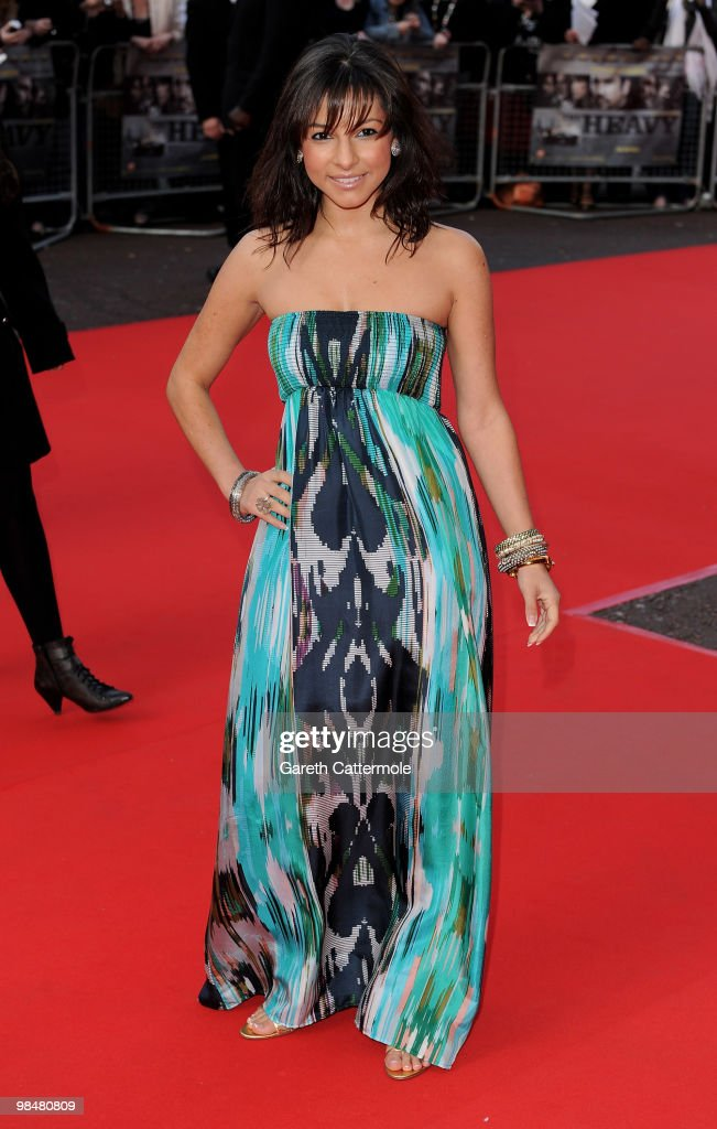 Roxanne Pallett arrives at 'The Heavy' UK film premiere at the Odeon West End on April 15 2010 in London England