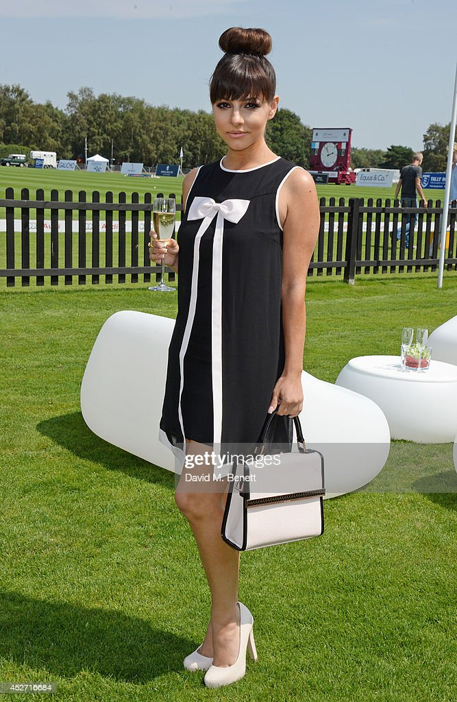 Roxanne Pallett attends Audi International at Guards Polo Club near Windsor to support England as it faces Argentina for the Coronation Cup on July...