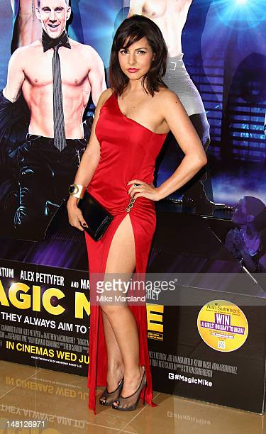Roxanne Pallett attends the European premiere of 'Magic Mike' at The Mayfair Hotel on July 10 2012 in London England