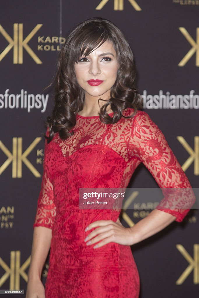 Roxanne Pallett attends the launch party for the Kardashian Kollection for Lipsy at Natural History Museum on November 14 2013 in London England